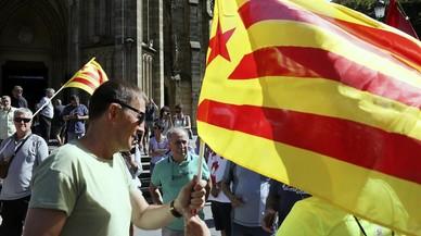 Més estelades que 'ikurriñes' en la manifestació d'EH Bildu a Sant Sebastià