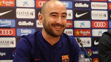 """Fran Sánchez: """"Volem que el futbol femení del Barça segueixi creixent"""""""