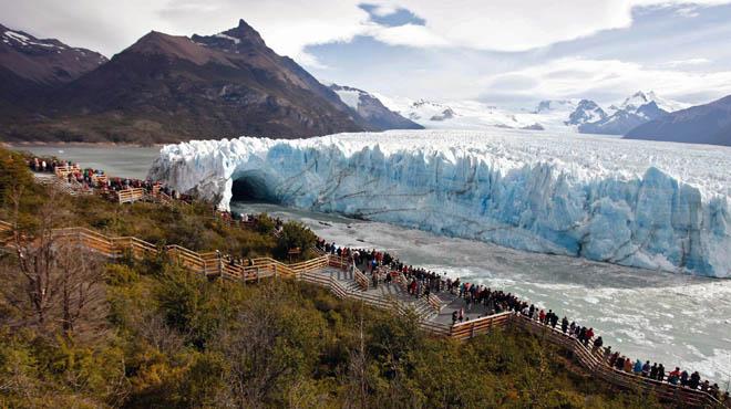La glacera Perito Moreno es fractura cada quinquenni.
