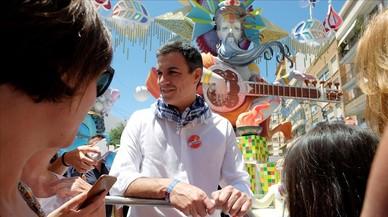 """Sánchez aprecia """"remuntada"""" i reactiva l'apel·lació al vot útil"""