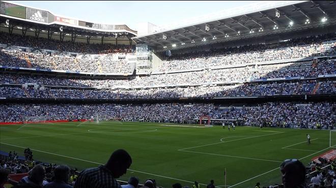 Una vista del estadio Bernab�u, donde el Madrid no quiere que el Bar�a juegue la fina de la Copa del Rey.