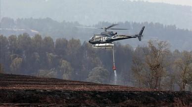 Estabilitzat l'incendi forestal d'Artés