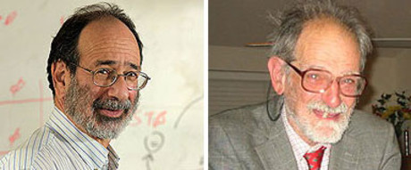 Los profesores Alvin E. Roth (izquierda) y Lloyd S. Shapley, Nobel de Economa 2012. 