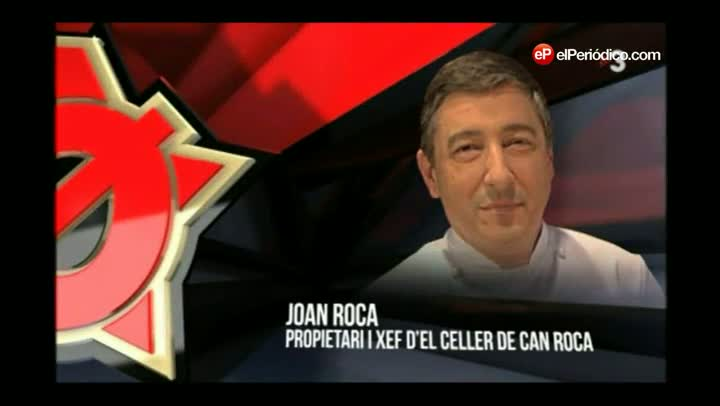 El autntico Joan Roca con el Ferran Adri de 'Polnia' (TV-3).