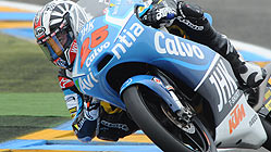 Maverick Viales, en Le Mans. AFP