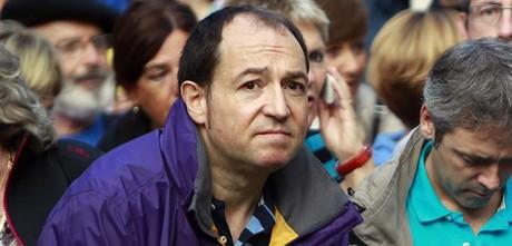 El portavoz de Sortu, Pernando Barrena, el pasado d�a 6 de octubre en un acto del partido.