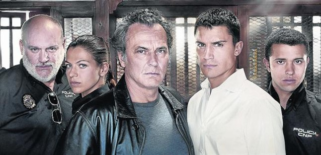 Juanma Lara, Thaïs Blume, Jose Coronado, Álex González y Ayoub El Hilali, protagonistas de El Príncipe.