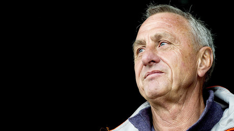 Johan Cruyff, durante un partido disputado en Ámsterdam