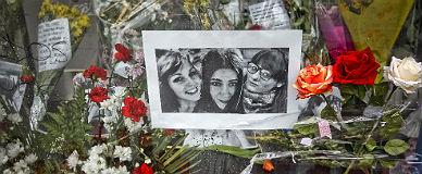 Memorial por tres de los cinco j�venes que murieron en la avalancha del Madrid Arena.