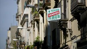 Anuncio de un piso en venta en Barcelona.