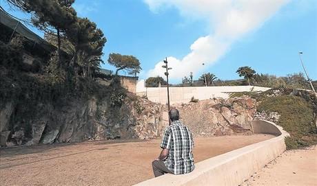 El testigo 8 Parcela contigua al monasterio donde a�n quedan restos de la antigua cantera.