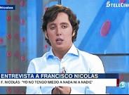 Francisco Nicol�s G�mez, anoche en Tele 5.