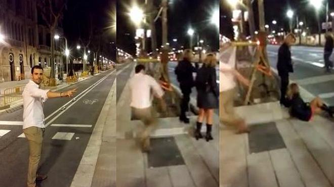La agresi�n de un joven a una chica en la avenida Diagonal de Barcelona