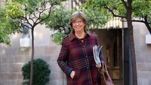 Irene Rigau a lentrada de la reunió del Consell Executiu, el 3 de novembre.