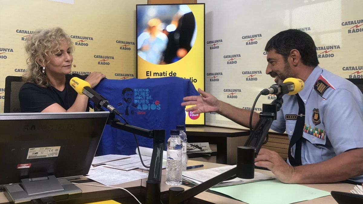 Mònica Terribas entrevista al major Josep Lluís Trapero
