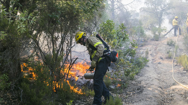 Cap de setmana de risc d'incendi forestal