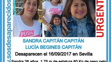 Desapareguda a Sevilla una dona embarassada i la seva filla de 6 anys