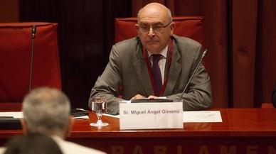 Miguel �ngel Gimeno, este mi�rcoles en el Parlament.