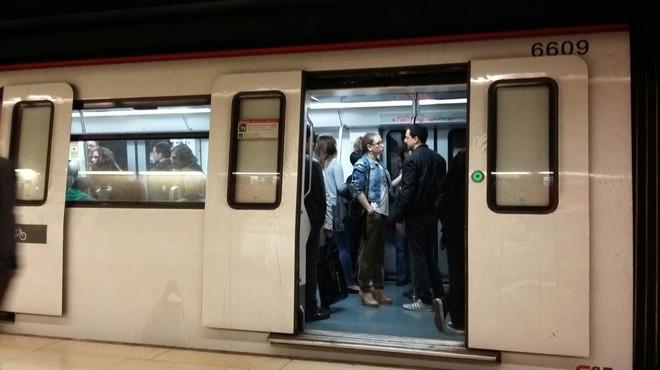 Un convoy de metro.