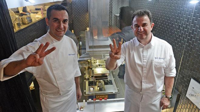 El restaurant Lasarte, de Martín Berasategui, aconsegueix tres estrelles Michelin