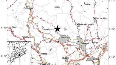 Zona en la que se ha registrado el epicentro del terremoto que ha afectado a las comarcas del Vall�s.