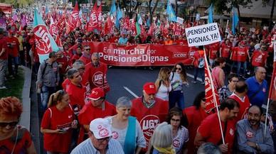 Milers de jubilats reclamen a Madrid pensions dignes