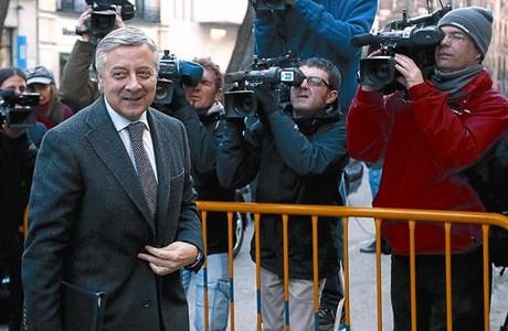 José Blanco, a su entrada al Tribunal Supremo para declarar por el 'caso Campeón'.