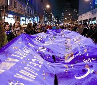 La manifestación del Día de la Mujer Trabajadora, el pasado mes de marzo, en Barcelona.