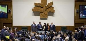 El Parlamento vasco, el día de su constitución, el 20 de noviembre del 2012.