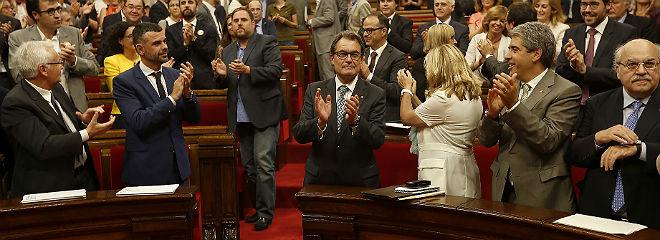 El Parlament, tras la votaci�n de la ley de consultas, el viernes.