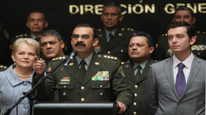 El general Rodolfo Palomino, jefe de la policía que ha dimitido.