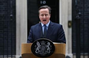David Cameron, en la puerta de Downing Street.