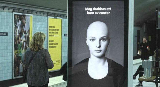 Impactante campaña de la fundación sueca contra el cáncer.