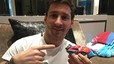 Lionel Messi, con su coche