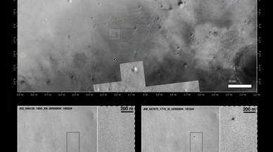 Im�genes del lugar de aterrizaje suministradas por el orbitador de la NASA 'Mars Reconnaissance Orbiter' (MRO).
