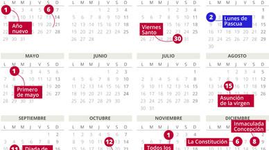 Calendario laboral 2018.