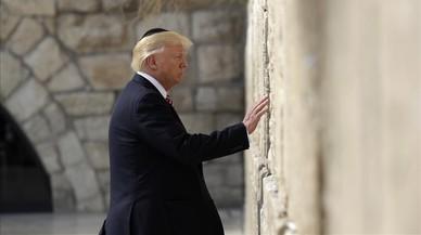 Donald Trump en el muro de Las Lamentaciones.