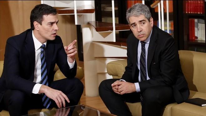 """Homs trasllada a Sánchez que el referèndum és """"inexcusable"""""""