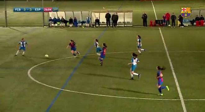 Un meravella de Claudia Pina decideix el derbi juvenil entre Barça i Espanyol