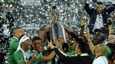 Los jugadores del Atl�tico Nacional celebran la conquista de la Copa Libertadores 2016.