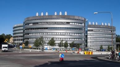 Edificio del Instituto Karolinska en la localidad de Solna, en las afuerasde Estocolmo.