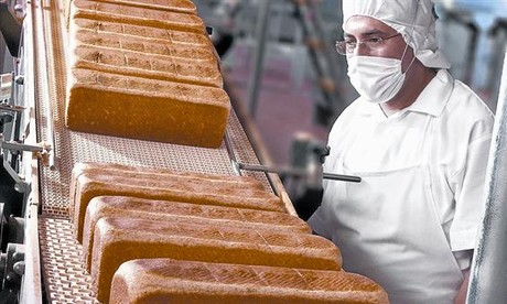 Planta de producci�n de pan de molde del Grupo Bimbo en Ciudad de M�xico.