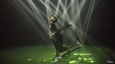 """Presentacion del SonarPLANTA 2017, """"phosphere"""" un espectaculo del artista digital Daito Manabe."""