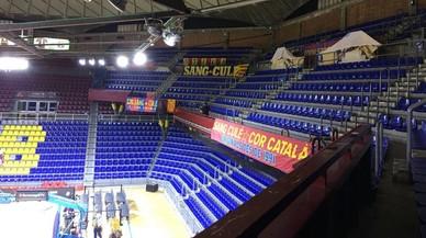 El Barça retira pancartes en suport a Sànchez i Cuixart al Palau