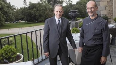 Toni Gerez y Xavier Sagrist�, en el nuevo Castell de Peralada Restaurant.
