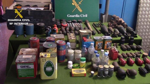 Trobat un arsenal d'armes i explosius en una caseta a Sant Celoni