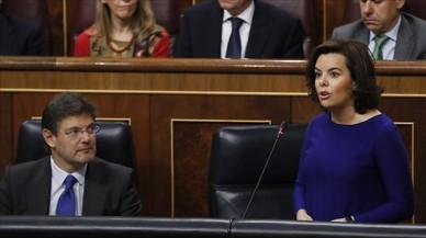 Soraya Sáenz de Santamaría, en la sesión de control al Gobierno del miércoles 23 de marzo.