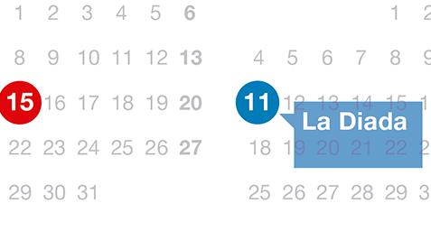 El calendari laboral de Catalunya del 2017 tindrà 15 festius