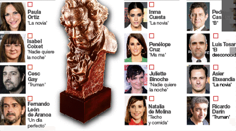 principales peliculas nominadas a los premios goya del cine espa�ol