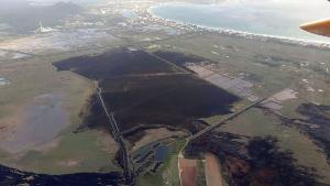 El incendio de s'Albufera, controlado tras arrasar 438 hectáreas